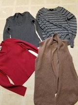 Stretchy pullover and open front sweaters in new to like new condition in Camp Pendleton, California