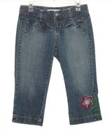 Tommy Hilfiger X-Tra Low Rise Floral Embroidered Denim Jean Capri Pants 4 in Morris, Illinois