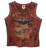 Harley Davidson Sleeveless Embellished Tee Top T-Shirt Womens Plus 2X Tennessee in Joliet, Illinois