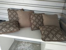 6 earth tone neutral classic throw pillows in Vacaville, California