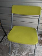 Bright green fold up chair in Fairfield, California