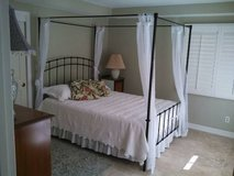 Wrought iron bed in Temecula, California
