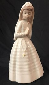Nao by Lladro First Holy Communion Girl Praying #236 porcelain figurine gift in Fort Belvoir, Virginia