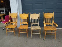 4 August Grove Style Country solid wood Dining chairs in Roseville, California