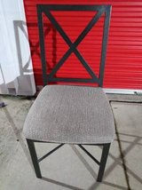 Padded Wrought Iron Chair with With Criss-Cross Back in Travis AFB, California