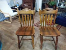 2 Antique Style Solid Wood Chairs in Roseville, California