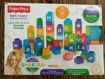 Fisher-Price Shakira First Steps Stack 'n Learn Alphabet Blocks in Naperville, Illinois