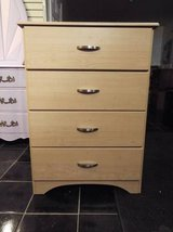 Chest of drawers*4 Drawers*Metal Roller*Great Dresser in Fort Leonard Wood, Missouri