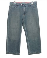 Old Navy Low Waist Cropped Denim Jean Capris Womens 8 in Chicago, Illinois
