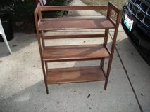 ALL WOOD FOLD AWAY BOOK CASE ...XPOST in Naperville, Illinois