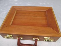 Presto Old Wooden brief case with combo lock in Cherry Point, North Carolina