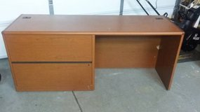 HON Office Desk Model H10748L, Left Credenza (Orig. Cost $1461) in Chicago, Illinois