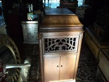 SILVER TONE VICTROLA CABINET ...X POST----REDUCED in Naperville, Illinois