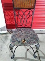Wrought Iron seat with Wood Head Rest in Roseville, California
