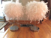 2 Feathered table lamps in New Lenox, Illinois