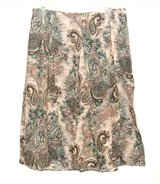 Requirements Flounce' Long Paisley Linen Blend Skirt Womens 16 Maxi Boho in Chicago, Illinois
