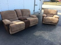 Gliding & reclining couch and chair in Shorewood, Illinois