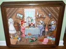Framed Art - Raggedy Ann Tea Party - oil on canvas #130/950 by Carson in Chicago, Illinois