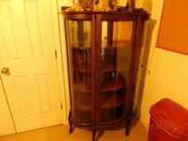 Antique Curved Glass China Cabinet in Fort Benning, Georgia