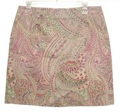 Geoffrey Beene Sport Paisley Skirt Womens 10 Stretch Multi-Color in Shorewood, Illinois