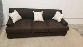 New Chocolate Microsuede Brown Sofa FREE DELIVERY in Vista, California