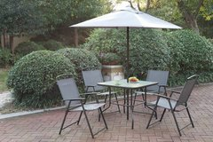 New! 6 Pcs Table + 4 Chairs + Umbrella Outdoor Patio Set FREE DELIVERY in Vista, California