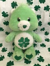 "Good Luck Care Bear Green Lucky Shamrock 7 1/2"" Plush in Chicago, Illinois"