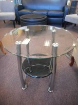 Glass End Table in Elgin, Illinois