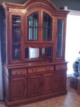 Solid Oak China Cabinet (PRICE REDUCED-MUST SELL BY DECEMBER 1st!!!) in Warner Robins, Georgia
