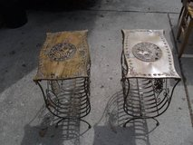 REDUCED....UNIQUE END TABLES METAL MINT in Tinley Park, Illinois