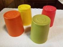 Vintage Tupperware 6oz tumblers with new lids in Temecula, California