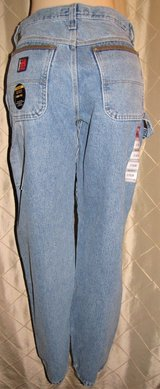 new wrangler riggs workwear blue denim carpenter jeans 31 x 34 relaxed fit in Fort Lewis, Washington