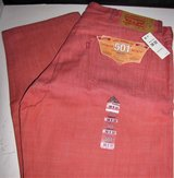 levis 501 jeans new salmon shrink to fit white oak cone denim 501-2229 38 x 32 in Fort Lewis, Washington