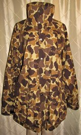 mens field & stream parka 3 in 1 zip in jacket camo reversible waterproof sz xl in Tacoma, Washington