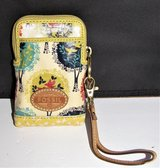 fossil key per accessory wristlet travel bag zipper small compact trees birds in Fort Lewis, Washington
