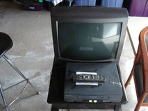 TOSHIBA TV AND PANASONIC VCR INCLUDES TABLE- ITEMS WORK in Lockport, Illinois