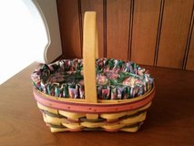 Longaberger Basket - Small stained Easter w/ liner & protector in Chicago, Illinois