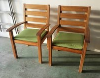 2 Teak Patio Chairs in Aurora, Illinois