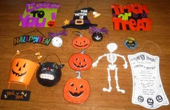 Halloween Decorations - Hanging Wood & Metal - ANY 6 for $10 in Lockport, Illinois