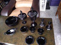 13 piece Vintage Indiana Black Diamond Glass I will be in Fairfield on 6/16 if you want me to br... in Travis AFB, California