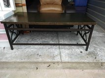 Retro Gold Green Black Coffee table with Wrought Iron Scroll in Vacaville, California