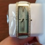 blumarine skinny women`s mother of pearl with swarovski crystals watch in Naperville, Illinois