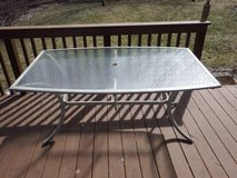 RECTANGULAR TEMPERED GLASS PATIO TABLE in Plainfield, Illinois