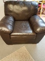 Brown leather chair in Wheaton, Illinois