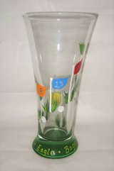 HAND PAINTED BEER GLASS - Golf / 19th Hole Theme - NEW in Joliet, Illinois