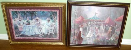 (2) Framed Art - Afternoon Tea II by Gamboa + Victorian Summer Fair in Naperville, Illinois