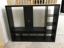 "IKEA LAPPLAND TV Storage Unit-Black-Brown-Up to 55 ""TV in Naperville, Illinois"
