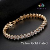New 18K Yellow Gold Plated Bracelet for Women with Cubic Zirconia in Watertown, New York