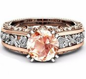 New 14K Rose Gold-plated Topaz Gemstone Ring in Watertown, New York