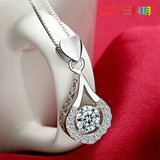 New 10K White Gold Filled Necklace w Genuine Zircon Gem in Fort Drum, New York
